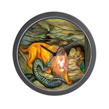 Lion of Judah Protects Wall Clock