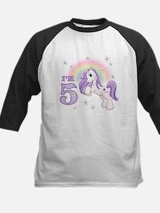 Pretty Pony 5th Birthday Kids Baseball Jersey