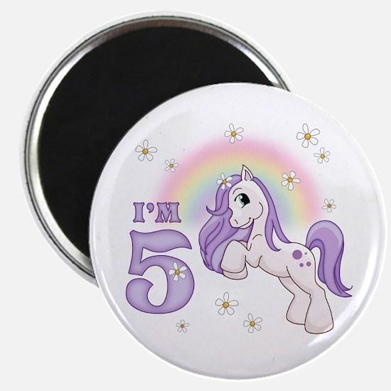 "Pretty Pony 5th Birthday 2.25"" Magnet (100 pack)"