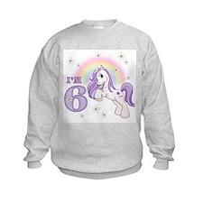 Pretty Pony 6th Birthday Sweatshirt
