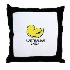 Australian Chick Throw Pillow
