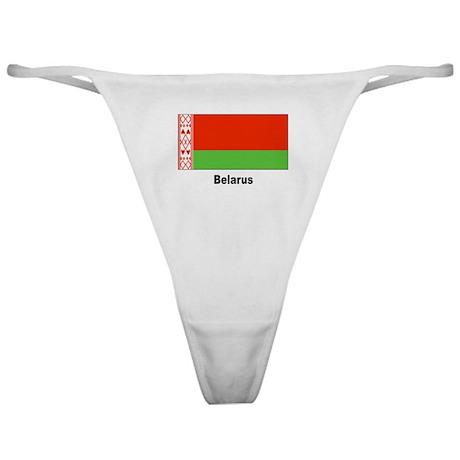 Belarus Flag Classic Thong