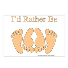 I'd rather be Postcards (Package of 8)