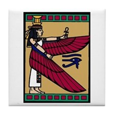 Unique Egyptian maat Tile Coaster
