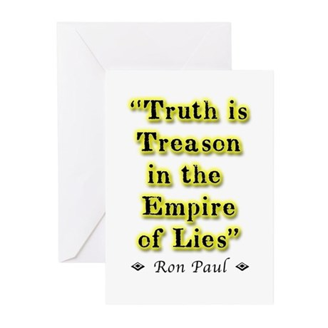 Truth Is Treason Greeting Cards (Pk of 20)