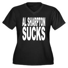 Al Sharpton Sucks Women's Plus Size V-Neck Dark T-