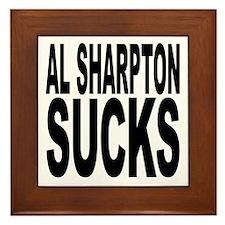Al Sharpton Sucks Framed Tile