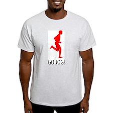 Go Jog! Ash Grey T-Shirt