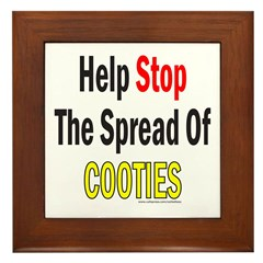 HELP STOP THE SPREAD OF COOTIES Framed Tile