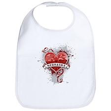 Heart Nebraska Bib