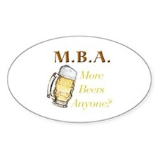 MBA Beers Oval Sticker (10 pk)