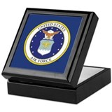 Air force retirement Square Keepsake Boxes