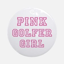 Pink Golfer Girl - Ornament (Round)