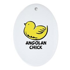 Angolan Chick Oval Ornament