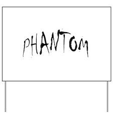 Phantom Halloween Yard Sign