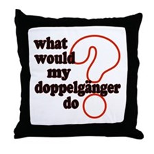 Doppelganger Throw Pillow