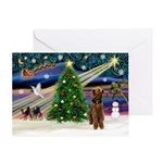 XmsMagic-Airedale(s) Greeting Card