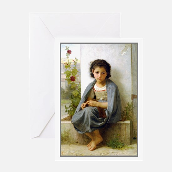 Little Knitter 2 Greeting Card