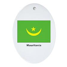 Mauritania Flag Keepsake (Oval)
