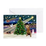 XmsMagic-Airedale Greeting Card