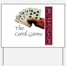 Euchre Card Game Yard Sign