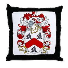 Jacob Family Crest Throw Pillow