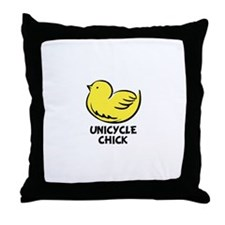 Unique Unicycles Throw Pillow