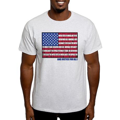 PLEDGE OF ALLEGIANCE FLAG Light T-Shirt