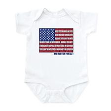 PLEDGE OF ALLEGIANCE FLAG Infant Bodysuit