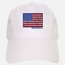 PLEDGE OF ALLEGIANCE FLAG Baseball Baseball Cap