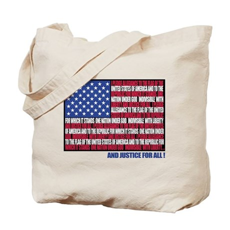 PLEDGE OF ALLEGIANCE FLAG Tote Bag