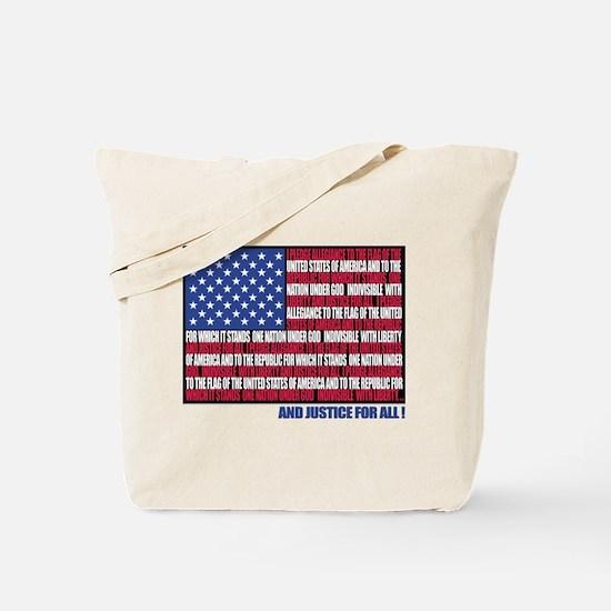 PLEDGE OF ALLEGIANCE FLAG Tote Bag
