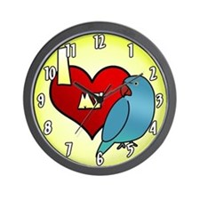 I Love My Blue Indian Ringneck Parakeet Clock Hen