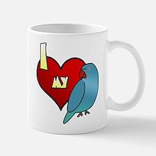 Love Blue Ringneck Hen Mug