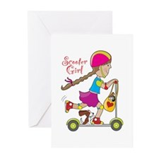 Scooter Girl Greeting Cards (Pk of 10)