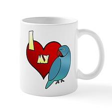 Love Blue Indian Ringneck Mug