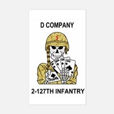 2-127th Infantry <BR>D Co. Sticker 2