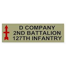 2-127th Infantry <BR>D Company Bumper Sticker 2