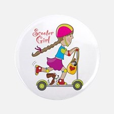 """Scooter Girl 3.5"""" Button"""