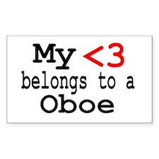 Heart Belongs to... Rectangle Sticker 10 pk)