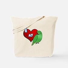 Love Indian Ringneck Parakeet Tote Bag