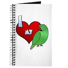 Love Indian Ringneck Parakeet Journal