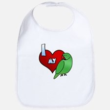 Love Indian Ringneck Parakeet Bib