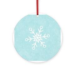 Contemporary Snowflake Ornament (Round)