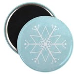 "Contemporary Snowflake 2.25"" Magnet (100 pack)"