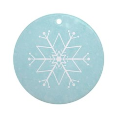 Contemporary Snowflake Ornament (Round)