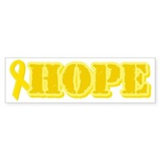 Hope Yellow ribbon Bumper Bumper Sticker