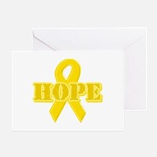 Hope Yellow ribbon Greeting Card