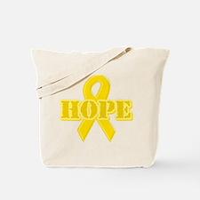 Hope Yellow ribbon Tote Bag