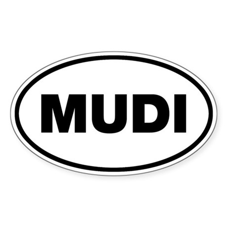 MUDI Oval Sticker